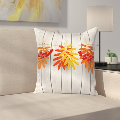 Vibrant Autumn Leaves Square Pillow Cover Size: 16 x 16