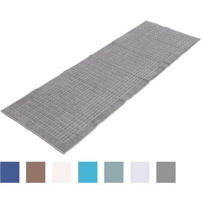 Biggs Heavyweight Cotton Towel Bath Rug Color: Gray