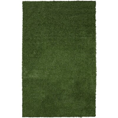 Chaim Artificial Solid Design Garden Grass Green Indoor/Outdoor Area Rug Rug Size: Rectangle 33 x 5