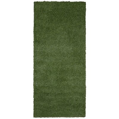 Chaim Artificial Solid Design Garden Grass Green Indoor/Outdoor Area Rug Rug Size: Runner 311 x 66