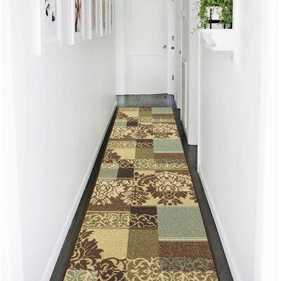 Camarena Contemporary Damask Design Hallway Area Rug Rug Size: Runner 27 x 910