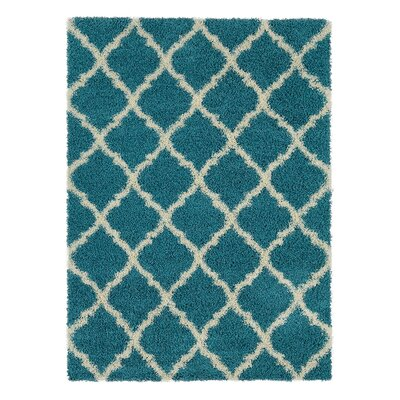 Radford Soft Turquoise Shaggy Area Rug Rug Size: Rectangle 67 x 93