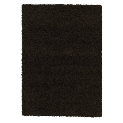 Yarborough Solid Design Contemporary Shag Brown Area Rug Rug Size: Rectangle 710 x 910