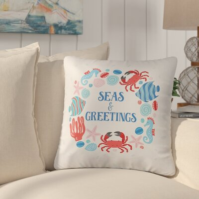 Bellevue Ocean Drifters Christmas Throw Pillow