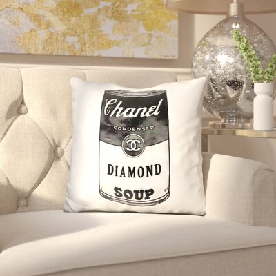 Jarrell Diamond Soup Throw Pillow