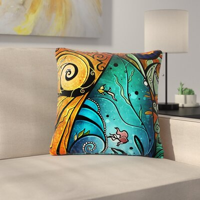 Mandie Manzano Sea Dance Outdoor Throw Pillow Size: 16 H x 16 W x 5 D