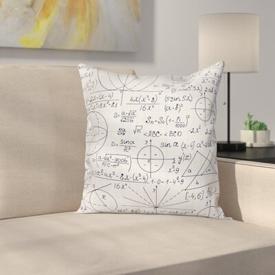 Modern Decor Student Geometry Cushion Pillow Cover Size: 16 x 16