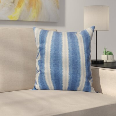 Navarro Lines Throw Pillow Size: 18 H x 18 W, Color: Blue