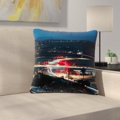Just L Chasing Outdoor Throw Pillow Size: 18 H x 18 W x 5 D