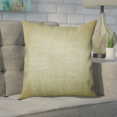 Portsmouth Solid Burlap Throw Pillow Color: Moss Green, Size: 18 H x 18 W