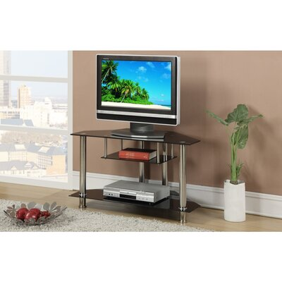 Chery Shelves Metal and Glass 40 TV Stand