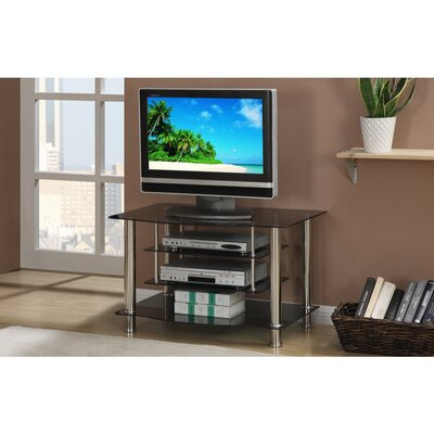Chesnut 4 Shelves Metal And Glass 36 TV Stand