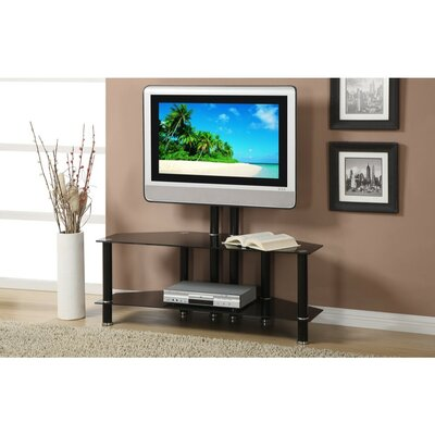 Chesser Adjustable Height 2 Shelves Metal and Glass 48 TV Stand