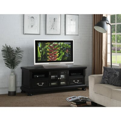 Honaker Wooden 63 TV Stand Color: Black
