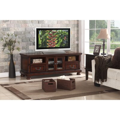Honaker Wooden 63 TV Stand Color: Brown