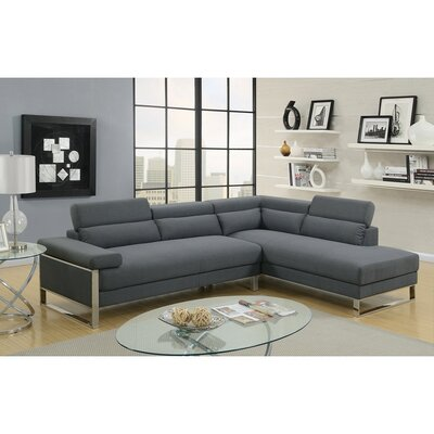 Showalter Sectional Upholstery: Charcoal Gray