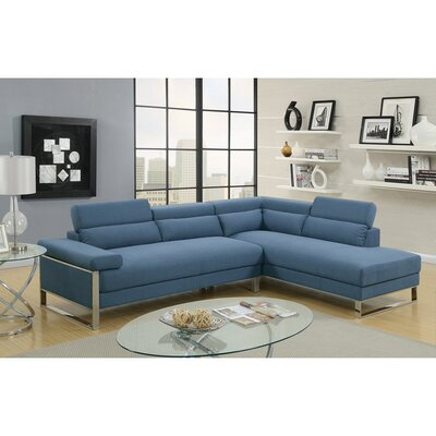 Showalter Sectional Upholstery: Blue