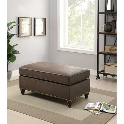 Hollenbeck Cocktail Ottoman Upholstery: Brown