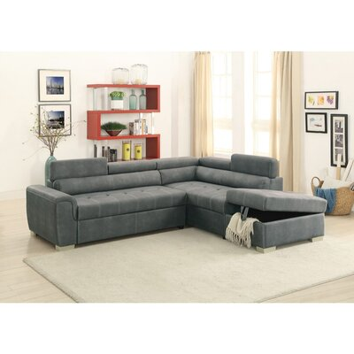 Mabry 2 Piece Convertible Sectional Set Upholstery: Slate Gray