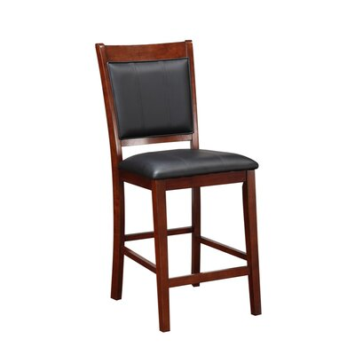 Holcombe Elegant Wooden Armless 24 Bar Stool