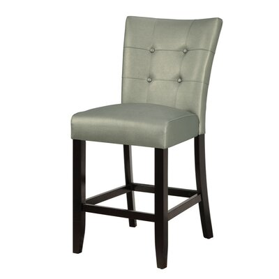 Lytle Wood and Polyurethane Bar Stool Seat Color: Gray