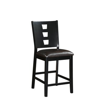 Park Place Wood and Leather 24 Bar Stool