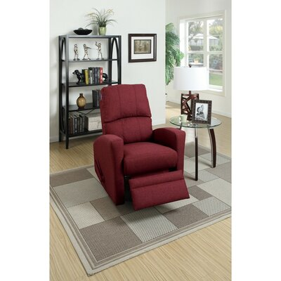 Charette Swivel Manual Recliner Upholstery: Red