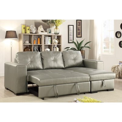 Macarthur Sleeper Sectional Upholstery: Silver