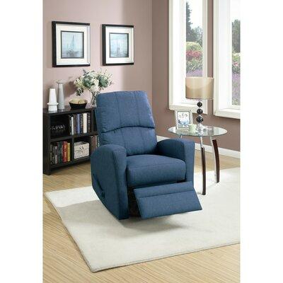 Charette Swivel Manual Recliner Upholstery: Blue