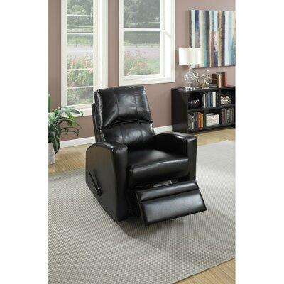 Charette Swivel Manual Recliner Upholstery: Black