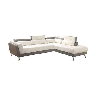 Macaulay Sectional Upholstery: White/Gray