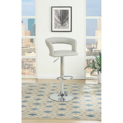 Shores Gas Lift Metal Base Adjustable Height Bar Stool Color: Gray