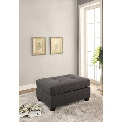 Holtz Cocktail Ottoman Upholstery: Dark Gray