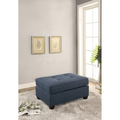 Holtz Cocktail Ottoman Upholstery: Blue