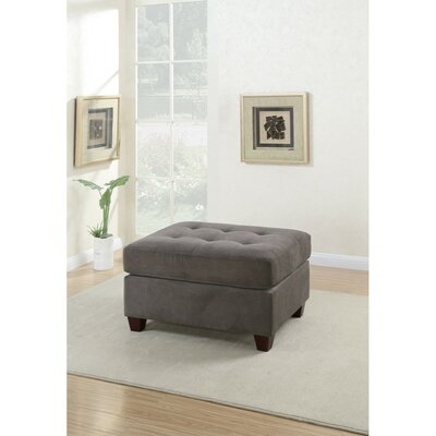 Holtzman Cocktail Ottoman Upholstery: Charcoal Gray