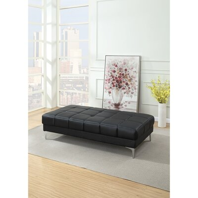 Shilling Ottoman Upholstery: Black