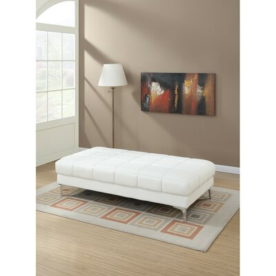 Shilling Ottoman Upholstery: White