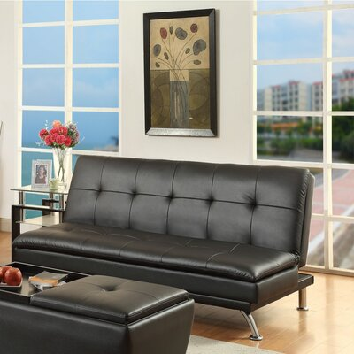 Luper Leatherette Adjustable Convertible Sofa