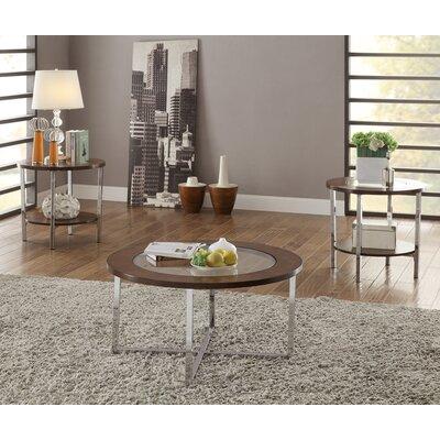 Shrewsbury 3 Piece Coffee Table Set with X Metal Frame