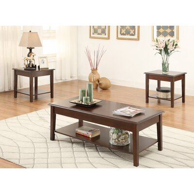 Holz Wooden Top 3 Piece Coffee Table Set