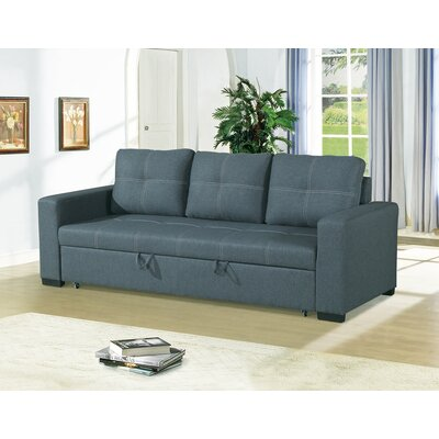 Lusher Polyfiber Fabric Convertible Sofa Upholstery: Gray