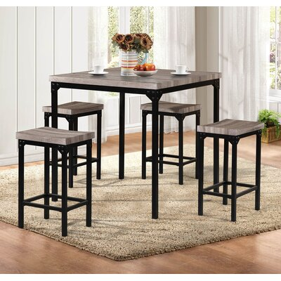 Wegner 5 Piece Counter Height Dining Set