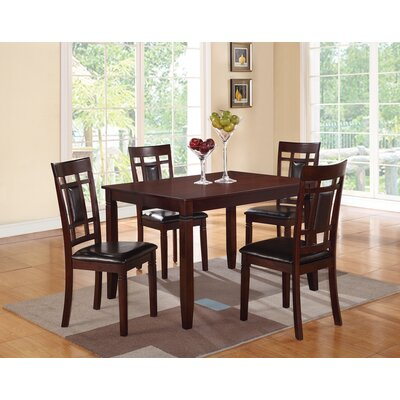 Hoff Wooden and Leather 5 Piece Dining Set