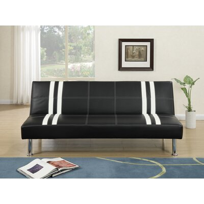 Livengood Faux Leather Adjustable Convertible Sofa
