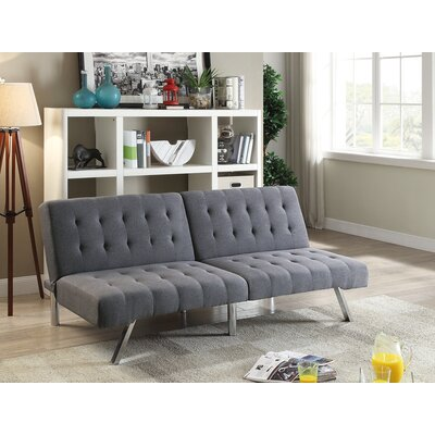 Lyall Tufted Seat and Back Polyfiber Adjustable Convertible Sofa