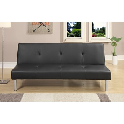 Chea Faux Leather Adjustable Convertible Sofa