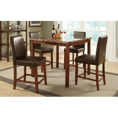 Melgar Marble Top 5 Piece Dining Set