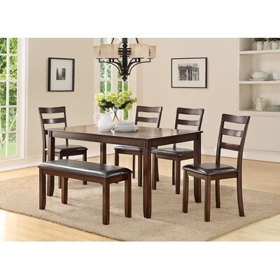 Stahr Rubberwood 6 Piece Dining Set
