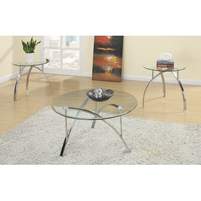 Chiu Complex Metal Frame 3 Piece Coffee Table Set