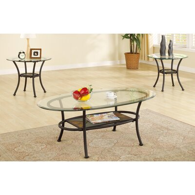 Canizales Metal Base 3 Piece Coffee Table Set